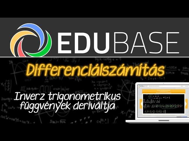 Inverz trigonometrikus függvények deriváltja