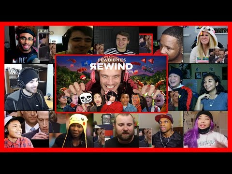 PewDiePie - YouTube Rewind 2018 but it's actually good REACTIONS MASHUP