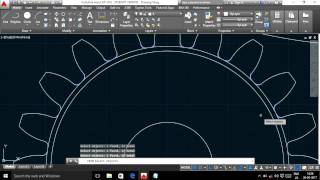AUTO CAD TUTORIAL -1. how to create a gear quickly