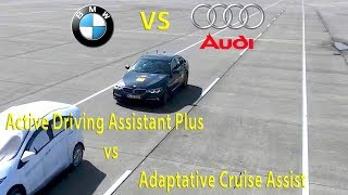 BMW 5 series  vs Audi A6 Adaptative Cruise Control (ACC) Test
