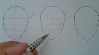 TUTORIAL Como Desenhar- Esboço de Cabeça Visto de Perfil