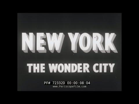 "1939 NEW YORK CITY NEWSREEL ""THE WONDER CITY"" 72332D"