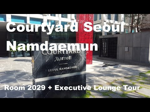 Courtyard Seoul Namdaemun - Room #2029 + Executive Lounge Tour