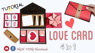 LOVE CARD - Hướng dẫn làm phong bì dán ảnh ghép nhiều chi tiết - NGOC VANG