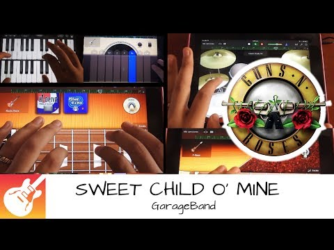 SWEET CHILD O' MINE (intro) Guns N' Roses - Cover GARAGEBAND HD