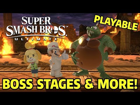 7 Extra Playable Stages Boss Stages & More - Super Smash Bros Ultimate Mods