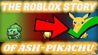 The ROBLOX Pokemon Story of Ash-Pikachu S1 E1 ROBLOX Series