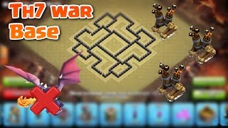 Clash Of Clans Town Hall 7 (TH7) BEST War Base Layout/Defence Strategy