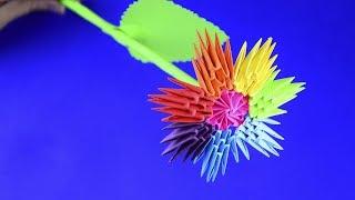 Модульное оригами для начинающих Цветик Семицветик цветок мастер класс