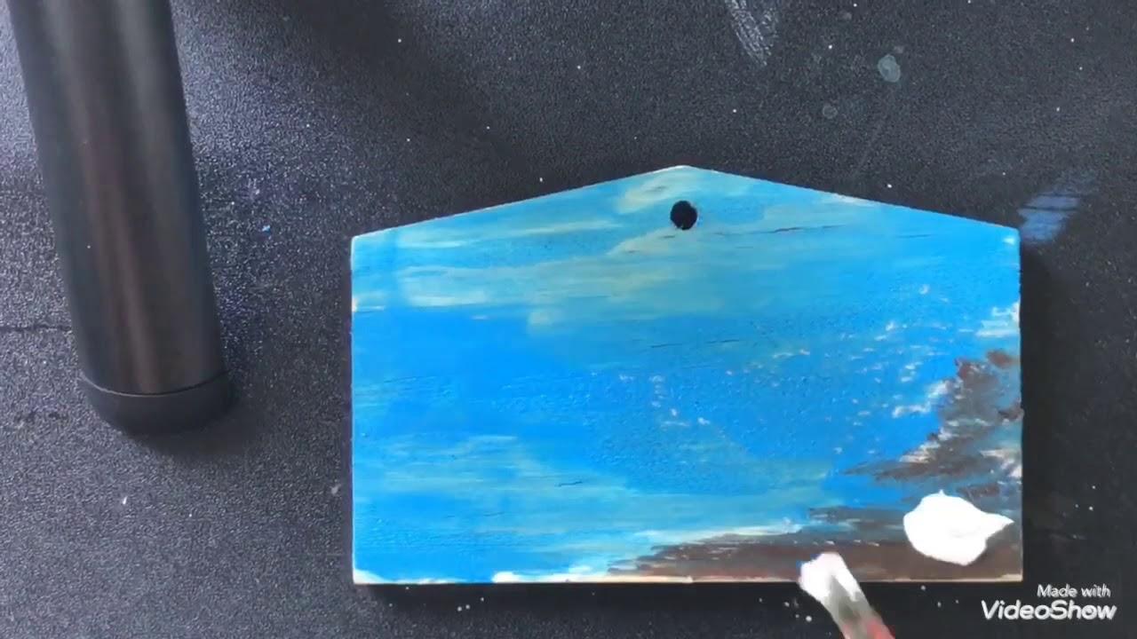 Vẽ bình minh trên biển đơn giản