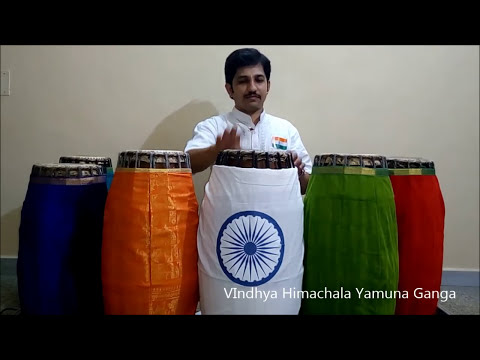 Jana Gana Mana - Indian National Anthem Instrumental with Lyrics By Mysore Vadiraj - Mridangam