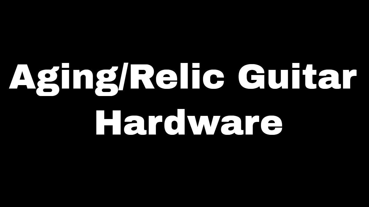 c6b90b23c2e How to Age Relic Chrome Hardware - Jack Daniels Barrel Top Part IV -  BigDGuitars