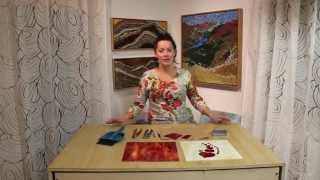 Kasia Mosaics - How to Cut and Shape a Stained Glass Heart for Mosaics
