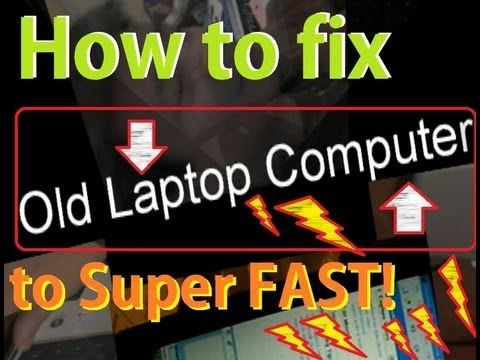 How To Fix, Repair Or Revive Old Slow Laptop Notebook To Super Fast Computer Downgrade Vista To Xp