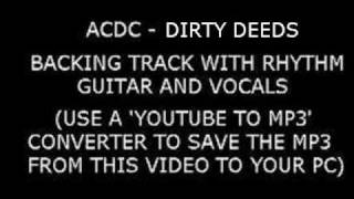 ACDC DIRTY DEEDS Backing Track With VOCALS and RHYTHM GUITAR