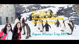 Japan Winter Trip 2019 Day 5 - Day Tour To Asahiyama Zoo, Shirahige Falls, Ningle Terrace