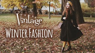 How I Stay Warm During Winter   Vintage Fashion Inspo