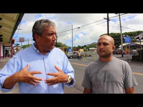 Mayor Billy Kenoi addresses BJ Penn on the community lava emergency segment 1
