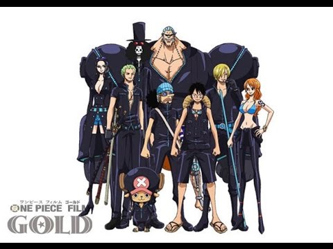 one piece film gold characters design straw hat crew