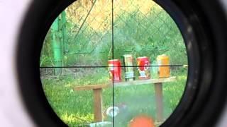Strzelanie z wiatrówki do puszek z wodą ( massacre)
