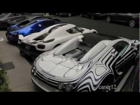 Supercar Carpark Bugatti Veyrons Koenigsegg Agera R