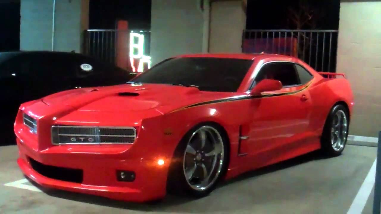 Wallpaper American Muscle Car Sneak Peak At A One Off Custom Trans Am And Gto Concept