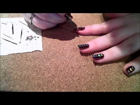 Alternative / Rock Chick / Gothic Valentines Nail Art Design LIVE VIDEO