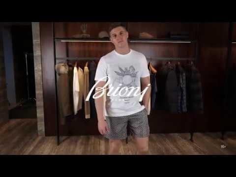 Пляжный гардероб // Летний мужской образ Бриони // Стиль от Brioni