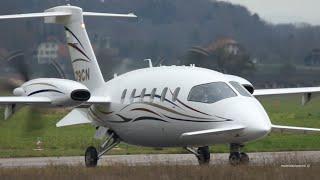 Piaggio P180 Avanti - N79CN - Take-Off at Bern Airport