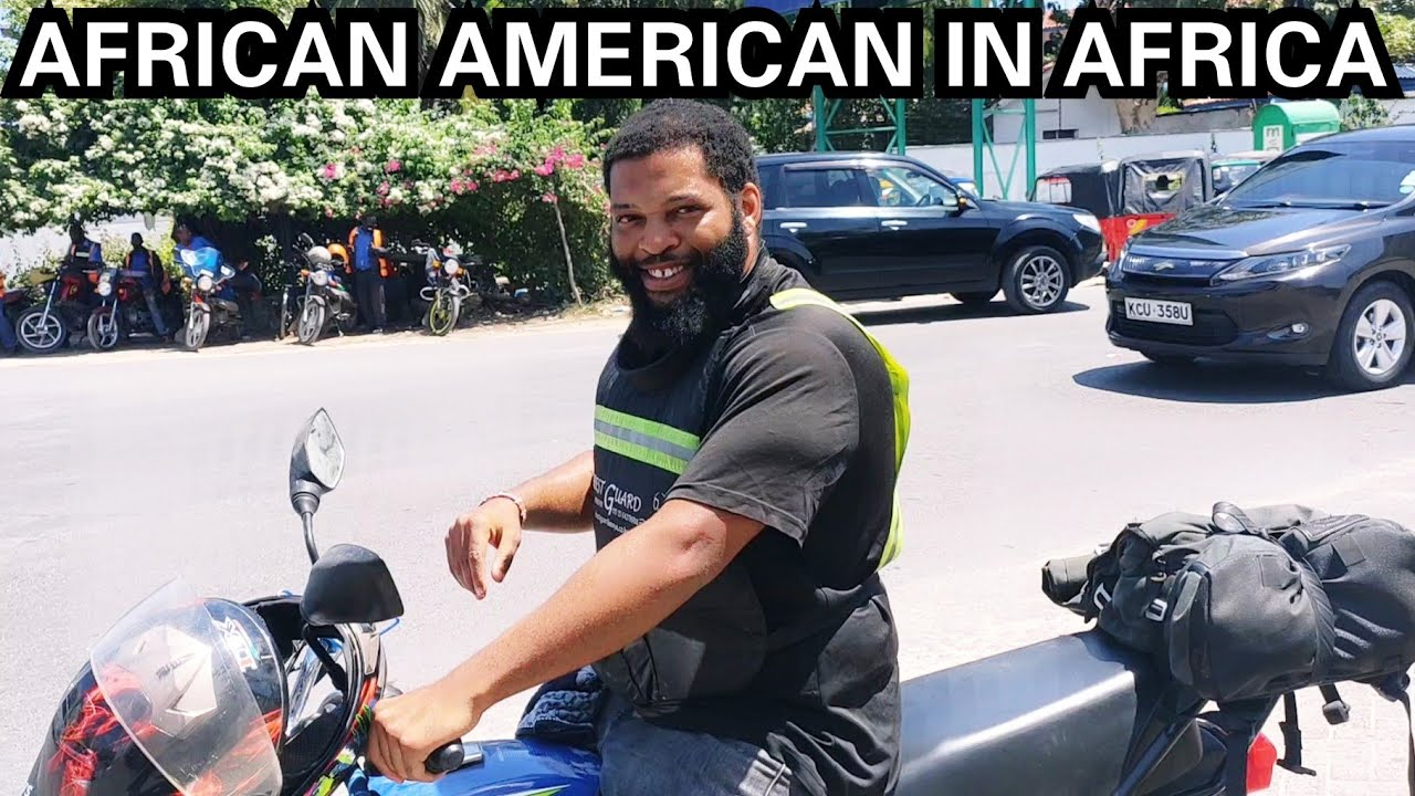 AFRICAN AMERICAN TOUR OF MOMBASA KENYA ON HIS MOTORBIKE/ Mombasa Tour 2021