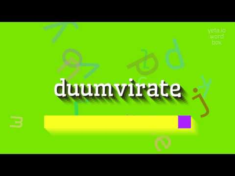 "How to say ""duumvirate""! (High Quality Voices)"