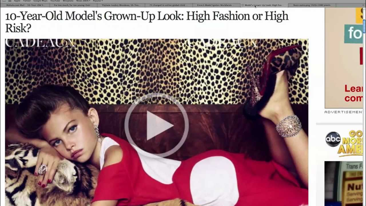 The Hypersexualization of Young Girls in Advertisements