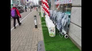 [강성그린] 서울 강동구 KT지점 출입구 인조잔디 시공