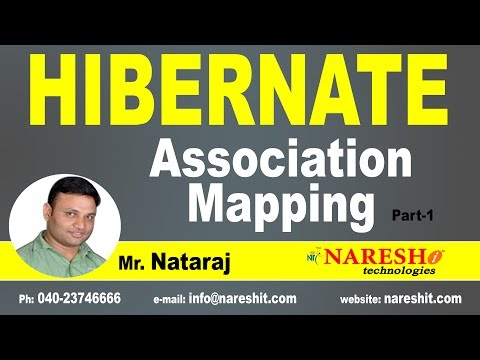 Association Mapping in Hibernate Part 1 | Hibernate Tutorial | Mr. Nataraj