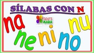 Repeat youtube video Sìlabas con N para Niños con Mùsica NA, NE, NI, NO, NU Syllables with N for Children