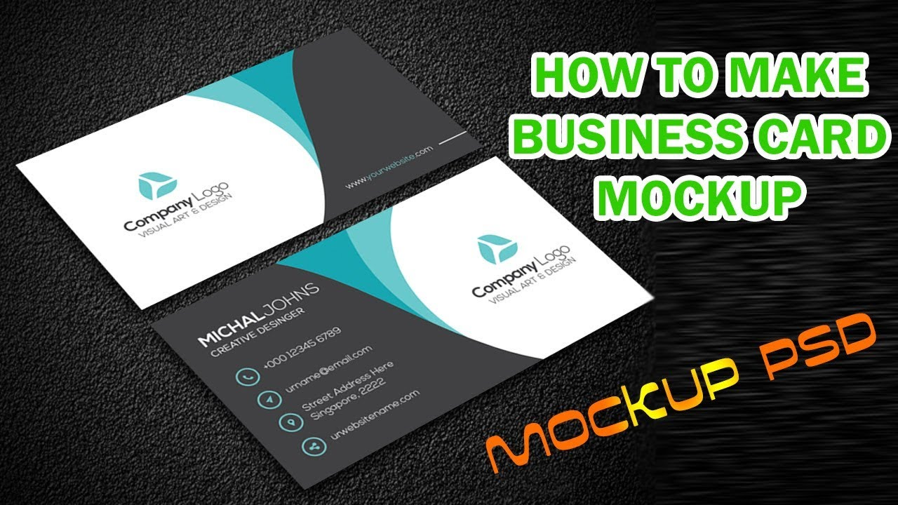 How to make business card mockup photoshop tutorial youtube how to make business card mockup photoshop tutorial reheart Gallery