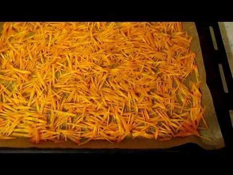 Как посушить морковь на зиму