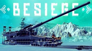 The Largest & Most Powerful Cannon Ever - Exploding Buildings & More - Besiege Best Creations
