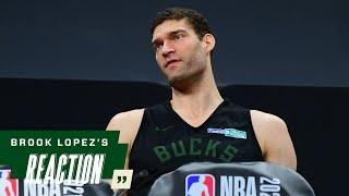 Brook Lopez NBA Finals Media Availability   7.19.21