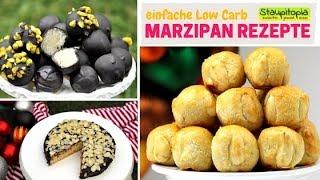 3 schnelle & einfache Marzipan Rezepte ohne Zucker: Marzipan Pralinen, Bethmännchen, Marzipan Kuchen