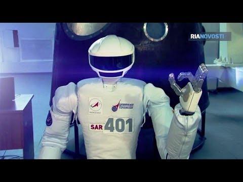 RIA Novosti - SAR-401 Robot Cosmonaut Prototype Testing At Star City [720p]