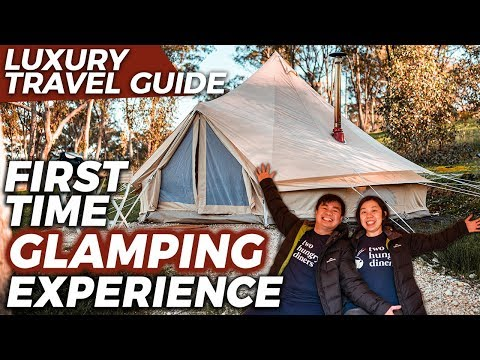 FIRST TIME #GLAMPING EXPERIENCE At Cosy Tents, Daylesford | Melbourne Travel Guide | Australia
