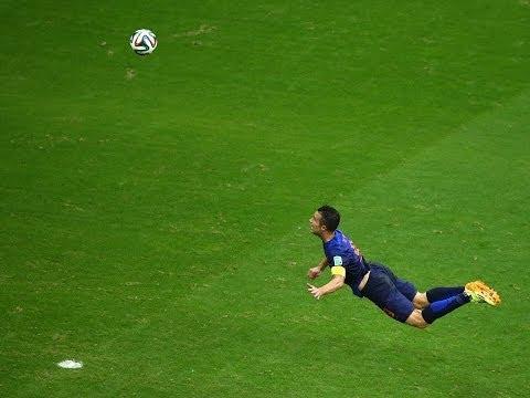 AMAZING Header by Robin Van Persie  Netherlands vs Spain FIFA 2014