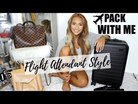 WHAT'S IN MY SUITCASE?   | FLIGHT ATTENDANT EDITION