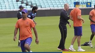 Nuwan Pradeep bowling at the nets