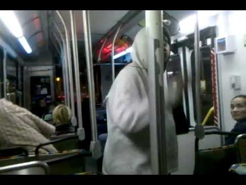 Crazy Lady On Santa MOnica BUS