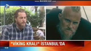Ragnar Lothbrok (Travis Fimmel) İstanbula geldi.(Travis Fimmel came to Istanbul.)