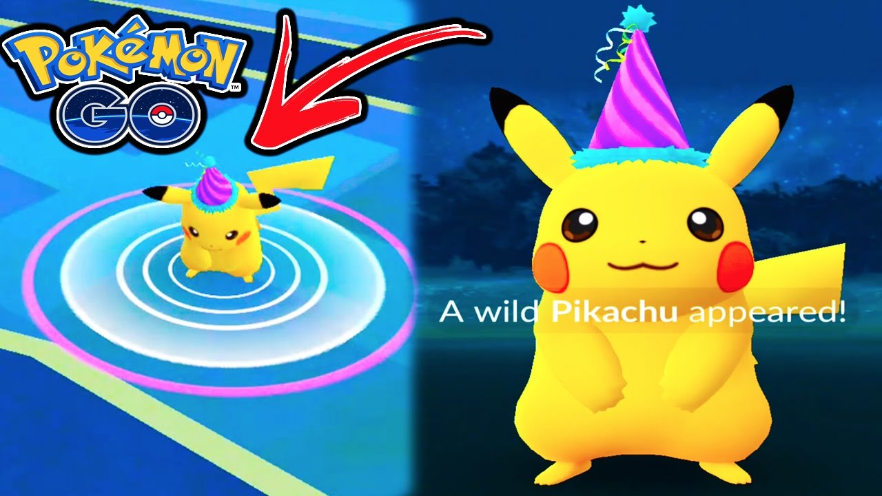 POKEMON GO 'CATCHING SPECIAL EVENT FESTIVE PIKACHU?? PARTY ...