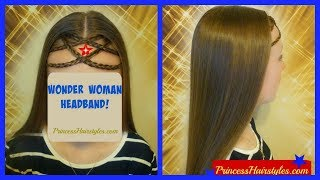 Wonder Woman Hairstyle! DIY Headband, Headpiece Using Your Own Hair