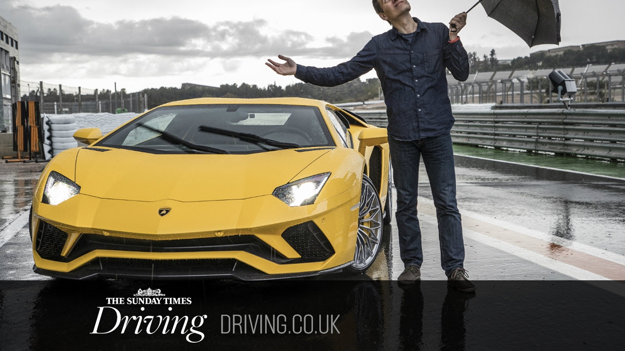 On track with the 730bhp Lamborghini Aventador S